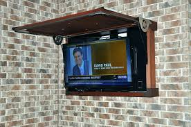 P Outdoor Tv Cabinet Fascinating Outside Enclosure Wall Weatherproof With For  Ideas