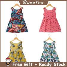 <b>2019 Children</b> 'S Clothing Girls Skirt <b>Summer Cotton</b> Princess ...