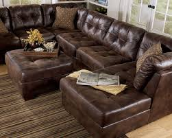 brilliant rustic brown leather sectional with largo contemporary brown microfiber large sofa couch sectional