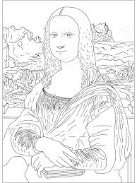 Mona Lisa Coloring Page Coloring Home