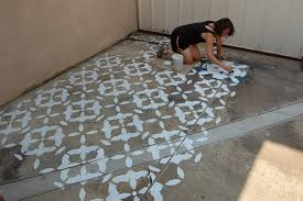 stenciling concrete patio lovely ideas stencils for painting concrete floors stenciled patios