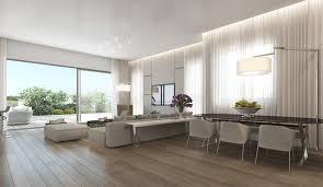 neutral open plan apartment interior