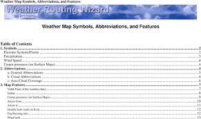 Weather Map Symbols Abbreviations And Features Pdf Free