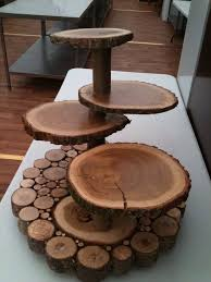 Wooden Wedding Cake Stands