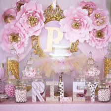 Pink And Gold Baby Shower Decorations Pink Tutus  Baby Shower Baby Shower For Girls Decorations