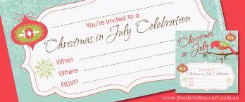 Free Christmas Invitation Template Free Christmas In July Invitation Template The Christmas Cart