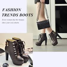 <b>Meotina</b> Shoes Women High Heel <b>Ankle Boots</b> Platform Women ...