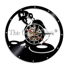 Record Gifts 1piece Dj Vinyl Clock Record Wall Clock Dj Gift Gifts For Rock Music