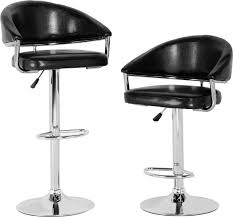swivel bar chair. Brooklyn Swivel Bar Chair With Gas Lift (PAIR) In Brown Faux Leather/Chrome