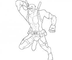 Small Picture Deadpool Coloring Pages for Boys Coloring Pages