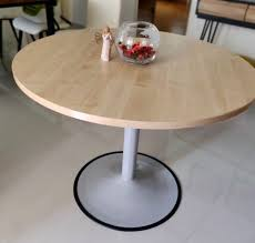 round wooden discussion table for