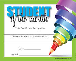Student Of The Month Certificates Certificate For Student Of The Month Ctsm007 School Photo Marketing
