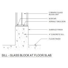 glass block at floor slab dwg