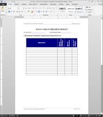 Compliance Manual Template Ssae 24 Compliance Checklist Template 9