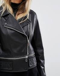whistles whistles buckle leather biker women black