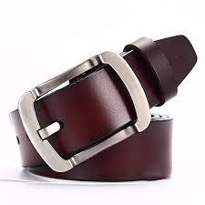 Types Of Designer Belts Male Genuine Leather Strap Mens Vintage Pin Buckle For