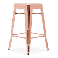 rose gold bar stools. Tolix Style Metal Bar Stool, Rose Gold 65cm Stools