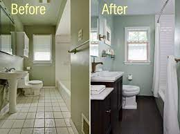 Before And After Photos Of Bathroom Renovations From Old Simple To New Elegant Trend One Small Bathroom Renovations Small Bathroom Remodel Bathrooms Remodel