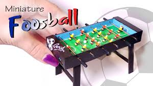 Miniature Wooden Foosball Table Game Miniature Foosball Table Tutorial Working DollsDollhouse 22