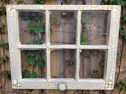 Old Window Frame Decor Easter Sale Old Window Ivory And Bronze Crackle Frame With