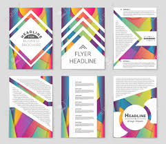 Design Sheet Art Abstract Layout Set For Art Template Design List Front Page