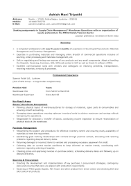 Resume Sample Logistics Resume