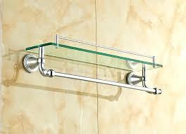 glass shelf with towel bar glass shelf with towel bar glass bathroom shelves inspiring com glass