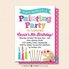 Painting Party Invitation White Kids Art Painting Birthday Party Invite Printable Instant Download Editable Pdf