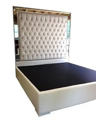granrest 14 dura metal faux leather platform bed frame king white size queen tufted zinus deluxe faux leather upholstered platform bed