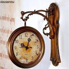 retro wall clock modern double sided digital large vintage clocks watch antique uk retro wall clocks contemporary