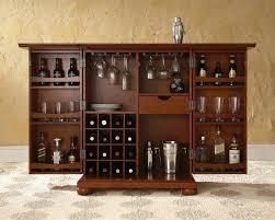 Cherry Bar Cabinet Beautiful Crosley Furniture Lafayette Expandable Bar Cabinet In