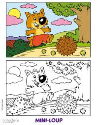 C Coloriage Coloriage Dessins Animes Coloriage Mini Loup Mini Loup A La Pechel