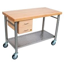 boos blocks cucic cucina magnifico kitchen cart maple top 2 dovetalied drawers stainless