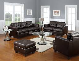 Dark Brown Bonded Leather Sofa AM Lowest Price Sofa - All leather sofa sets