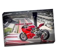 large ducati 1199 panigale motorbike framed canvas picture wall art print 50cm x 80cm a1 by panther print shop online for homeware in australia on motorbike wall art australia with large ducati 1199 panigale motorbike framed canvas picture wall art