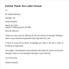 Formal Letter Format Samples Formal Letter Formats Samples Examples Sample Templates Official Of