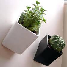 wall plant pots off the wall mini flower pots wall mounted flower pot hangers