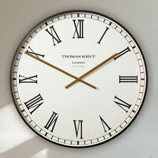 30 clocksmith wall clock black