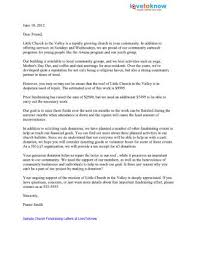 Fund Raising Letters Awesome Sample Church Fundraising Letters Lovetoknow With Sample Donation