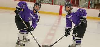 women s ice hockey members on the ice