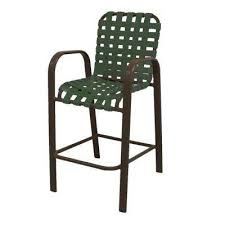 bar height patio chair: marco island brownstone commercial grade aluminum bar height patio dining chair