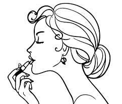 Coloring Girls Coloring Pages For Girls Makeup Cosmetics Beautiful