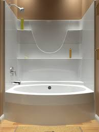 all in one shower tub. tub and shower - one piece all in