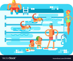 Public swimming pool Royalty Free Vector Image