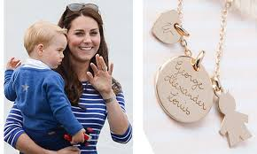 kate middleton snagged her own namesake necklace by merci maman after the arrival of prince george