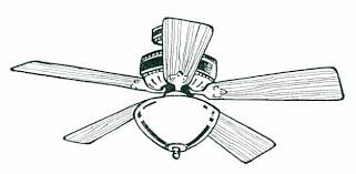 ceiling fan drawing. ceiling fan with lights clipart drawing 1