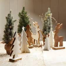 Weihnachtsbäume 3er Set Weiß