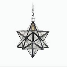 creative ripple glass pendant lighting star shaped