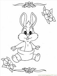 Bunny Coloring Pages For Kids At Getdrawingscom Free For Personal