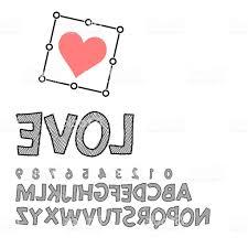 script heart vectors love font vector alphabet hand lettering script font typography alphabet for designs